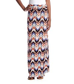 Sequin Hearts Chevron Maxi Skirt