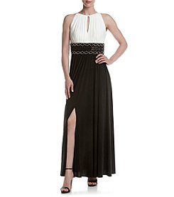 R&M Richards® Beaded Waist Keyhole Dress