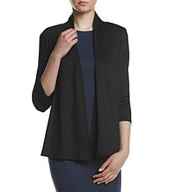 Kasper® Ruched Back Open Front Cardigan