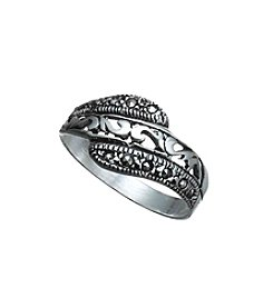 Marsala Marcasite Bypass Ring