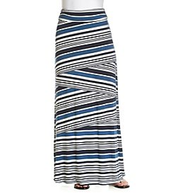 Sequin Hearts Multi Stripe Maxi Skirt