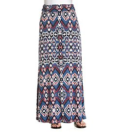 Sequin Hearts Diamond Print Maxi Skirt