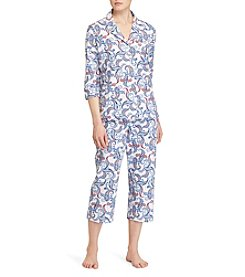 Lauren Ralph Lauren® Notch Collar Pajama Set