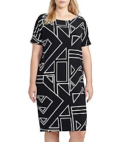 Lauren Ralph Lauren® Plus Size Geometric Print Jersey Dress