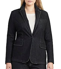 Lauren Ralph Lauren® Plus Size Stretch Denim Blazer