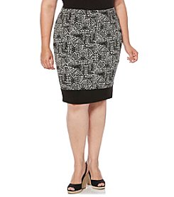 Rafaella® Plus Size Distressed Tile Path Skirt