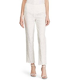 Lauren Ralph Lauren® Floral Lace Straight Pants