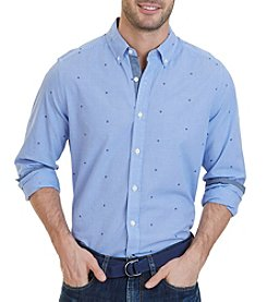 Nautica® Classic Fit Mini Check Poplin Shirt