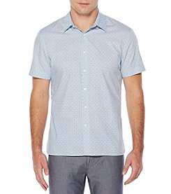 Perry Ellis® Short Sleeve Geometric Print Button Down Shirt