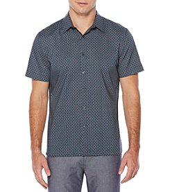 Perry Ellis® Short Sleeve Diamond Button Down Shirt
