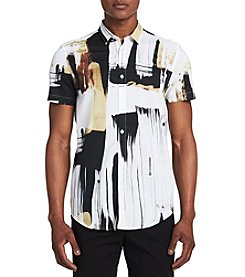 Calvin Klein Short Sleeve Hand Painted Button Down