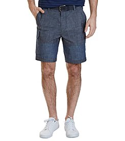 Nautica® Men's Modern Fit Chambray Cargo Shorts