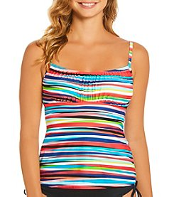 Caribbean Joe® Bimini Wall Tankini Top