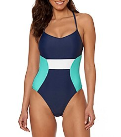 Ellen Tracy® X-Back Colorlock One Piece