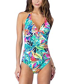 Lauren Ralph Lauren® Tropical-Print One-Piece