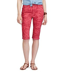 Chaps® Tropical-Print Stretch Cotton Shorts
