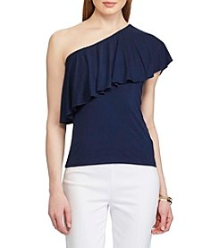 Chaps® Ruffled One-Shoulder Top