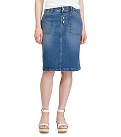 Chaps® Stretch Denim Skirt