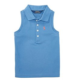 Polo Ralph Lauren® Girls' 2T-4T Mesh Polo Top