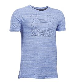Under Armour® Boys' 8-20 Big Logo Hybrid Tee