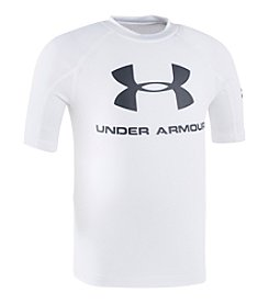 Under Armour® Boys' 8-20 Logo Print Rashguard Tee