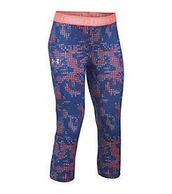 Under Armour® Girls' 7-16 Printed Capri Pants