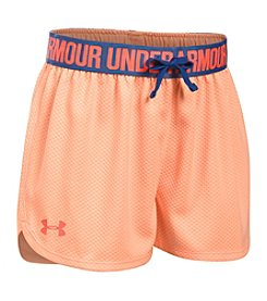 Under Armour® Girls' 7-16 Mesh Play Up Shorts