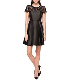 Jessica Simpson Lace Top Fit And Flare Dress