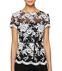Alex Evenings® Floral Lace Blouse