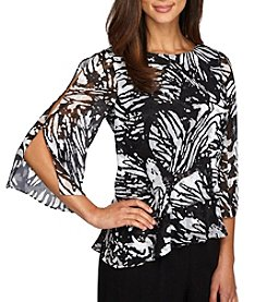 Alex Evenings® Printed Sheer Blouse