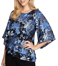 Alex Evenings® Floral Blouse