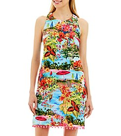 Nicole Miller New York™ Landscape Pom-Pom Hem Dress