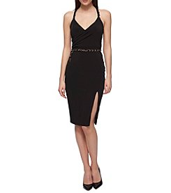 GUESS Chain Belt Sheath Dress