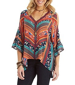 Democracy Cold Shoulder Kimono Top