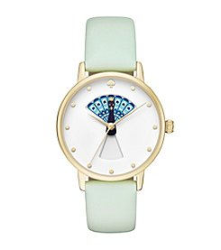 kate spade new york® Splash Leather Metro Watch