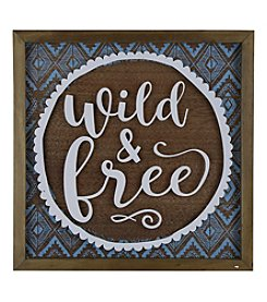 Sheffield Home® Wild & Free Sentiment Wall Art