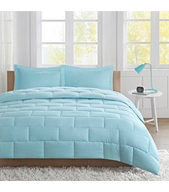 Intelligent Design Avery Seersucker Down Alternative Comforter Mini Set