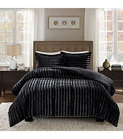 Madison Park Duke Solid Brushed Faux Fur 3-pc. Comforter Set