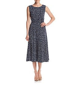 Jessica Howard® Printed Ruched Waist Dress