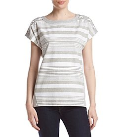 Alfred Dunner® Striped Knit Top