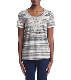 Breckenridge® Lace Striped Knit top