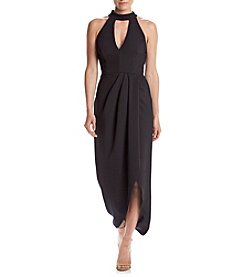 Xscape Halter Neckline Tulip Dress