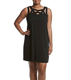 Madison Leigh® Plus Size Strappy Neckline Dress