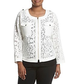Jones New York® Plus Size Cropped Lace Jacket