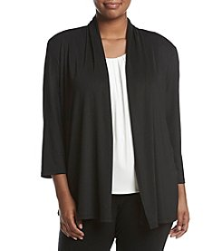 Kasper® Plus Size Ruched Back Cardigan