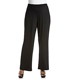 Kasper® Plus Size Pull On Wide Leg Pants