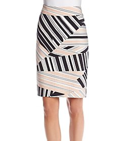 Nine West® Shell Crepe Slim Skirt