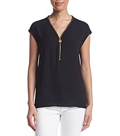 MICHAEL Michael Kors® Lock Zip Neck Blouse