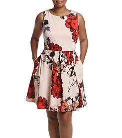 Taylor Dresses Plus Size Floral Printed Dress