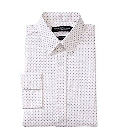 Nick Graham® White Diamond Print Dress Shirt